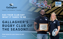 Could you be Gallagher's Rugby Club of the Season?