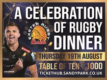 Exeter Chiefs Rugby Dinner