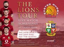 Lions Tour Screenings at Sandy Park, Exeter